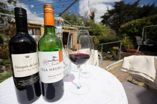 Leitrim Lodge Dublin wine on the terrace